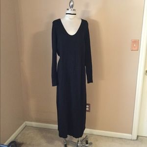 Rare Victoria Secret black sweater maxi dress XL